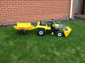 Children's jcb digger and trailer