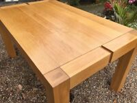 Solid oak large dining table ....free local delivery