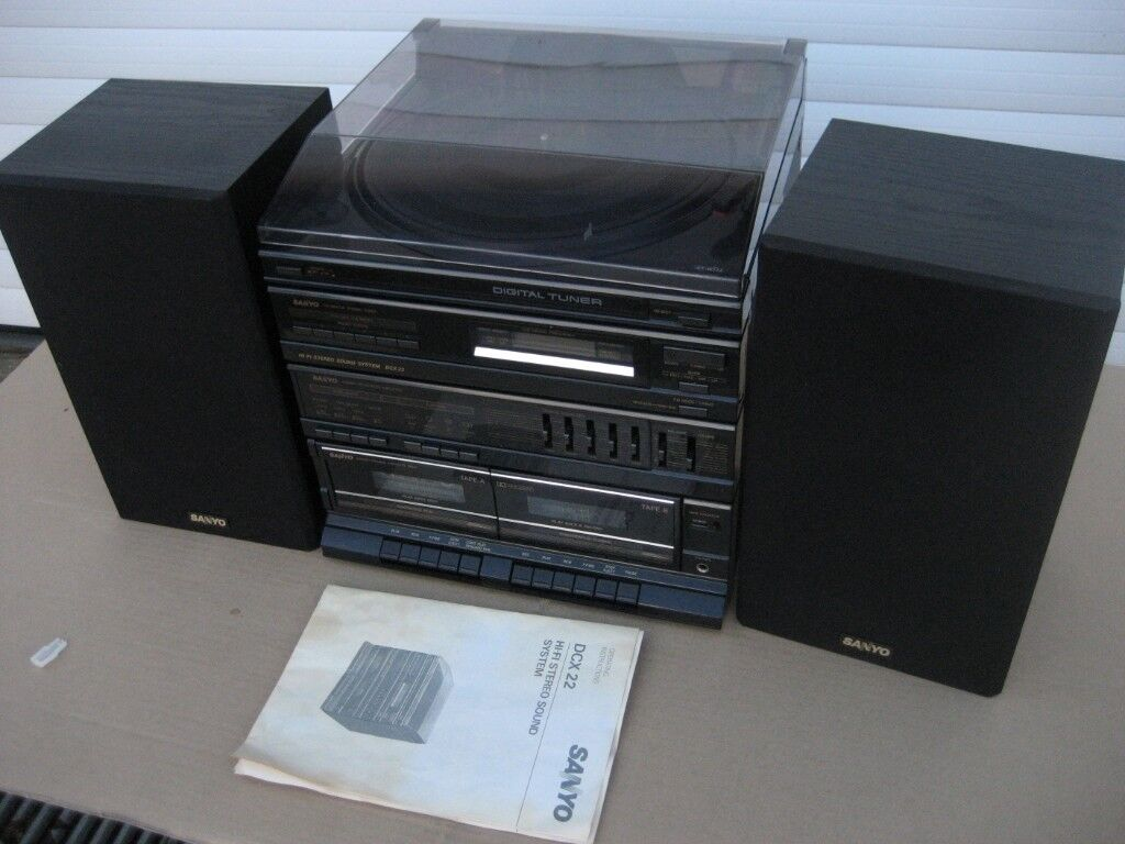 RECENTLY SERVICED RETRO HIFI SANYO HIFI RECORD PLAYER DCX-22 | in Dumfries,  Dumfries and Galloway | Gumtree