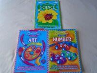 Scholastic Curriculum Bank Books x 3 - ART / SCIENCE / NUMBER