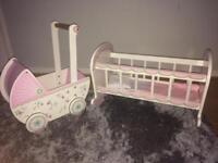 Little Girls Wooden Baby set
