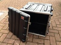 "SKB 19"" 10U RACK MOUNT FLIGHT CASE"