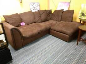 Lovely condition suede corner sofa for 120 pounds