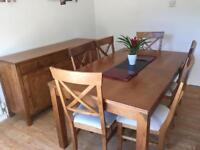 Laura Ashley Extending table and 6 chairs (Balmoral Honey)