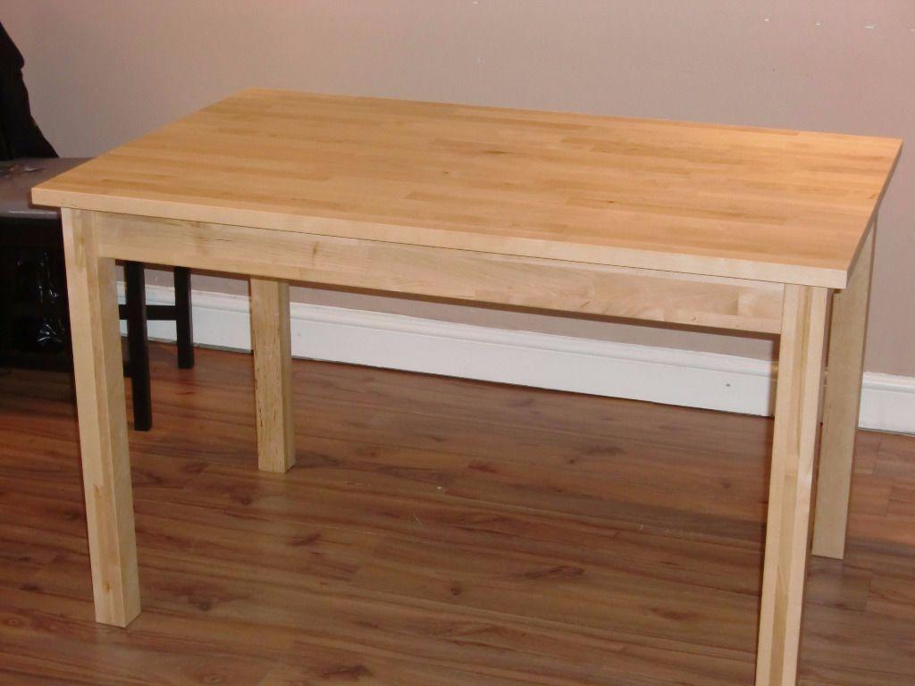 BJ214RKUDDEN Table IKEA birch wood in Clifton Village  : 86 from www.gumtree.com size 1024 x 768 jpeg 63kB