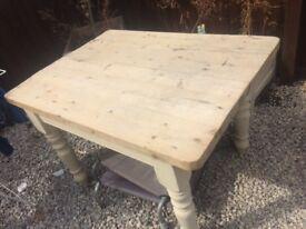Superb pine top kitchen table