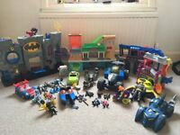 Batman Toys in good condition, just in time for Christmas, buildings, cars and figures