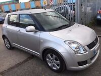 SUZUKI SWIFT 1.5 PETROL MANUAL 2008 GLX 1 OWNER KEYLESS ENTRY USB 5 DOORS