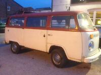 VW Bay Window 1975 Camper Tax Exempt Long MOT