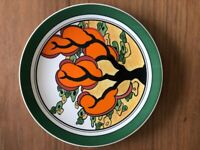 "CLARICE CLIFF Wedgwood plate ""ORANGE ERIN"""