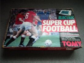 Vintage 70s Tomy Super Cup Electronic Battery Operated Football Game BOXED Working