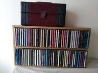 CD rack and CD box, including 100 Cd's