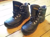 Panoply Leather Safety Toe Cap Boots - Size 10/44