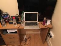 Bed, Bedside Table, Wardrobe & Computer Table for Sale
