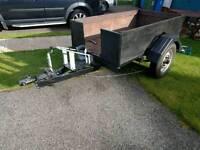 1 tone braked trailer - bike trailer