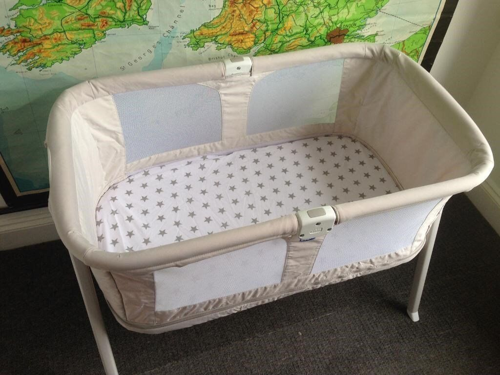 Travel Cot Chicco Lullago Zip Crib In Light Grey Barely