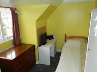 Large single room, looking over gardens, fully furnished, English owned house NON-SMOKING suit girl
