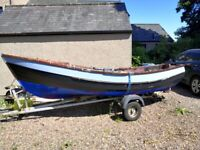 Yorkshire pebble boat and trailer
