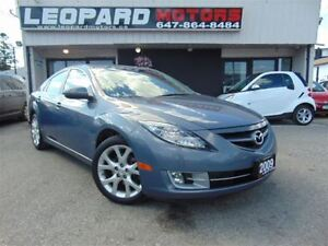 2009 Mazda MAZDA6 GT,Leather,Sunroof,Bluetooth*Low Km*No Acciden