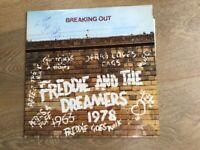 Vinyl LP Freddie/Dreamers 'Breaking Out' 1978 signed