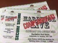 Hardwick live 2 x adult tickets Saturday
