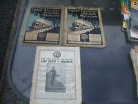 3 ISSUES GREAT EASTERN RAILWAY MAGAZINE 1911 1914 1917