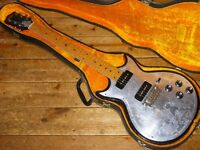 John Birch doublecut guitar 1970s with added Zemaitis style metalfront and Gibson P90s