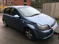 Chevrolet Kalos SX 1399cc Petrol 5 speed manual 5 door hatchback 57 Plate 01/09/2007 Blue