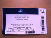 Imagine Dragons at the O2 on 28th feb .One ticket