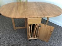 Foldaway Dining Table & Chairs