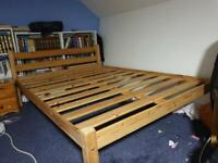 Solid Oak Wood Bed Frame for sale ( very good condition)