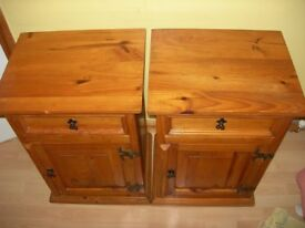 2 bedside pine cabinets £90 for the pair or £50 each