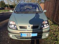 Renault megene scenic fidjl 16V for sale, MOT, 1 former keeper, service history.