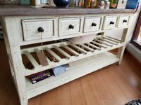 Brand New kitchen unit with wine rack
