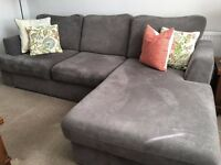 GRAY CHAISE SOFA