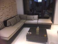 L-Shaped Sofa Rattan Furniture Set