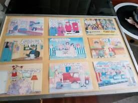 Terry irvine postcards framed