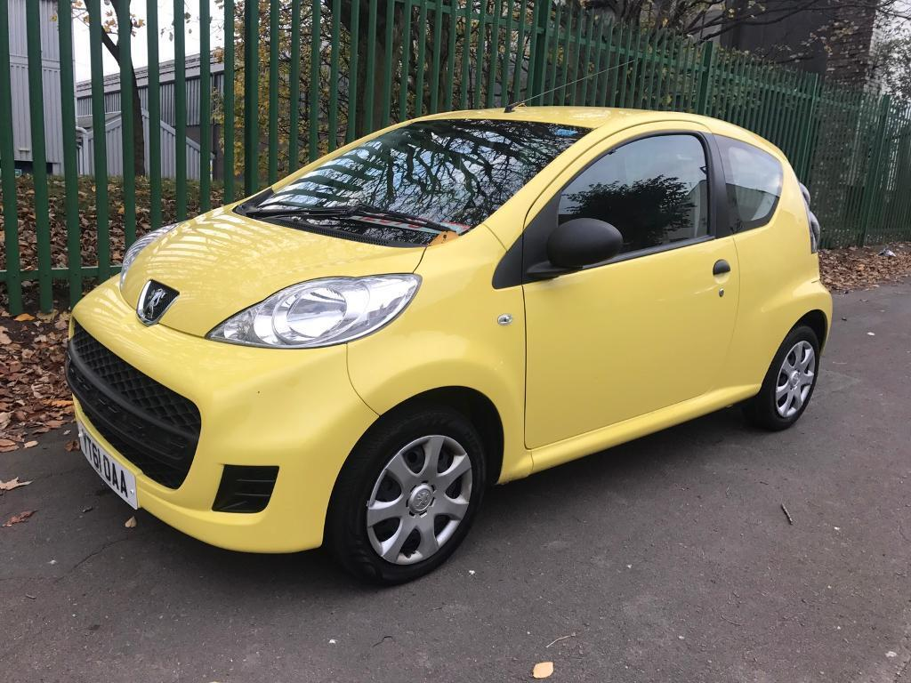 27000 MILES ONLY. 2011 PEUGEOT 107 URBAN LITE 1.0 PETROL. £20 TAX. LOW INSURANCE IDEAL FIRST CAR.