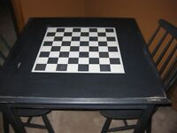 Chess Table and 2 Chairs