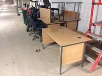 Collection of office chairs and desks