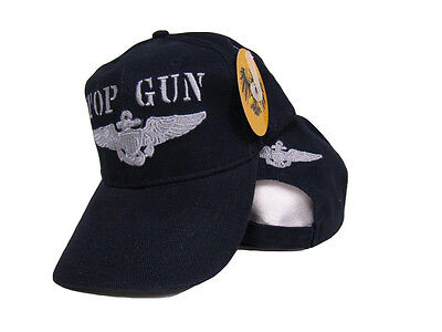 Embroidered Dark Blue Military US Navy Top Gun Baseball Ball Hat Cap - Top Gun Hat