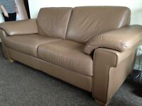 Natuzzi real leather sofas