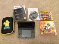 3DS XL console + games