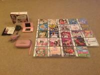 Nintendo DS Lite - Pink + 24 Games (all boxed as new)