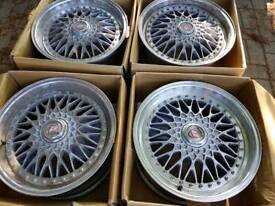 "4x 18"" calibre Vintage bmw alloys 3 series z3 z4 5x120"