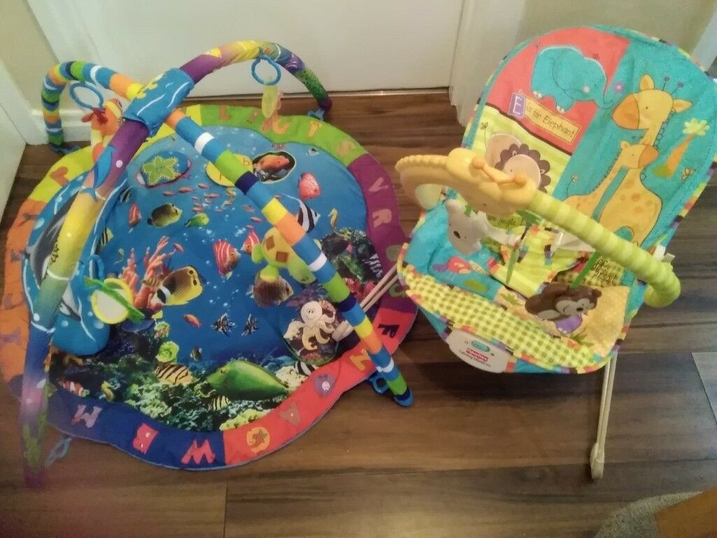 0c9a94223 Fisher Price baby bouncer   sealife playmat