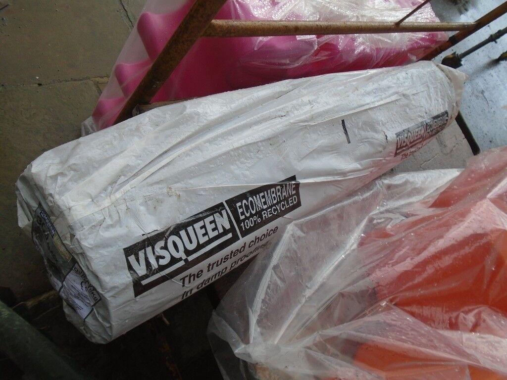 visqueen membrane sheeting new 25m long