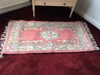 Chinese style wool rugs x 2