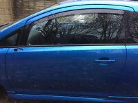 Vauxhall Corsa D VXR Blue 2007 - 2013 Passenger Side Complete N/S Door
