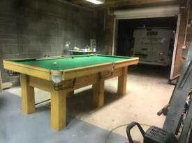 8ft by 4 ft snooker/pool table